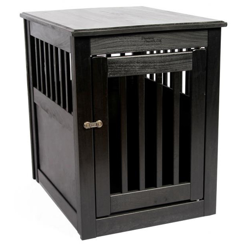 dynamic accents medium end table black furniture style dog crate