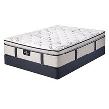 Serta Queen Size Plush Pillow Top Mattress and Boxspring Sets serta green acres spt set