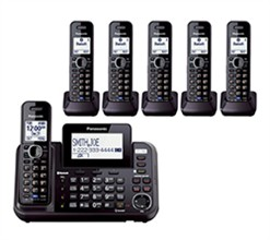Panasonic 6 or More Handsets Cordless Phones panasonic kx tg9546b