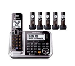 Panasonic 6 or More Handsets Cordless Phones panasonic kx tg7876s