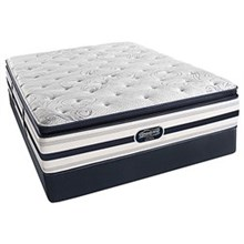 Simmons Queen Extra Long Size Mattress  beautyrest recharge ultra ford plush pillow top set