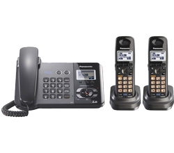 Panasonic 2 Line Corded Phones panasonic kx tg9392t