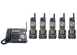 Panasonic 4 Line Corded / Cordless Phones panasonic kx tg4500b plus 4 kx tga450b
