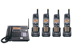 Panasonic 4 Line Corded / Cordless Phones panasonic kx tg4500b plus 3 kx tga450b