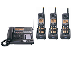 Panasonic 4 Line Corded / Cordless Phones panasonic kx tg4500b plus 2 kx tga450b