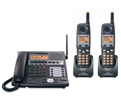 Panasonic 4 Line Corded / Cordless Phones panasonic kx tg4500bpluskx tga450b