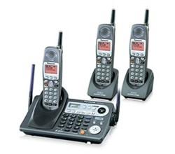 3 Handsets panasonic kx tg6500b 2 kx tga650b