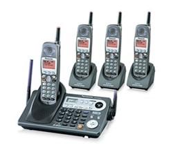 4 Handsets panasonic kx tg6500b 3 kx tga650b