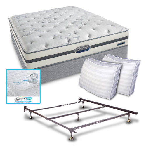 Simmons Beautyrest Recharge Spalding Cal King Bund Simmons Beautyrest Recharge Spalding Bundle at Sears.com
