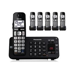 Panasonic 6 or More Handsets Cordless Phones panasonic kx tge246b