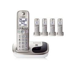 Panasonic 5 Handsets panasonic kx tgd215n