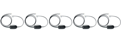 Jabra GN Netcom 5 Headset Bundles jabra ehs polycom 14201 17 5 pack