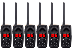 Standard Horizon 6 Pack VHF Radio Bundles standard horizon hx150