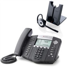 Polycom SIP Voice Over IP Phones polycom2200 12560 025 w Jabra headset option