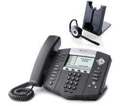 Polycom SIP Voice Over IP Phones polycom 2200 12651 025 w Jabra headset option
