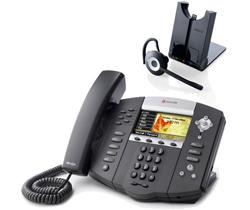 Polycom 6 Line SIP VOIP Phones polycom 2200 12670 025 w Jabra headset option