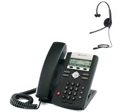 Polycom SIP Voice Over IP Phones 2200 12375 001 w Jabra headset option