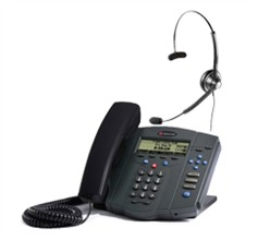 Polycom SIP Voice Over IP Phones polycom 2200 12430 001 w Jabra headset option