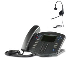 Polycom Desktop Phones polycom 2200 11531 001 w Jabra headset option