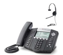 Polycom 4 Line SIP VOIP Phones polycom 2200 12550 001 w Jabra headset option