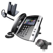 Polycom Video Desktop Conferencing Phones polycom 2200 44600 025 2200 46200 025 w Jabra Headset