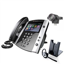 Polycom Video Desktop Conferencing Phones polycom 2200 44600 001 2200 46200 025 w Jabra Headset Option