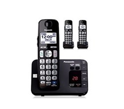 Panasonic 3 Handsets Cordless Phones panasonic kx tge233b