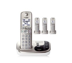 Panasonic Single Line Cordless Phones 4 Handsets panasonic kx tgd224n