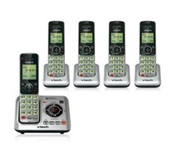 4 Handsets Phones with an Answering Machine   vetch cs6629 4 CS6609