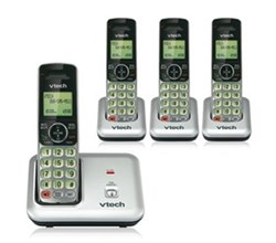 VTech 4 Handsets Wall Phones   VTech cs6419 3 cs6409