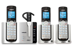 VTech three handset phones vetch ds6671 3 1 ds6071