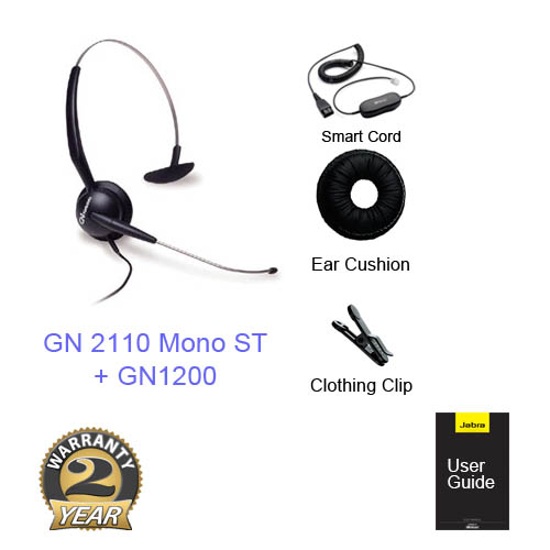 jabra gn 2110 mono st with gn1200 cable