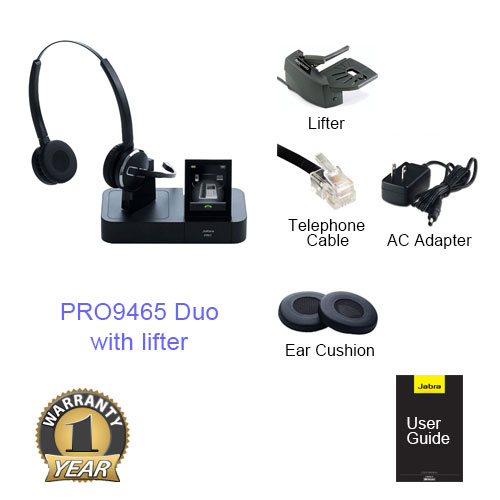 jabra pro 9465 duo with lifter