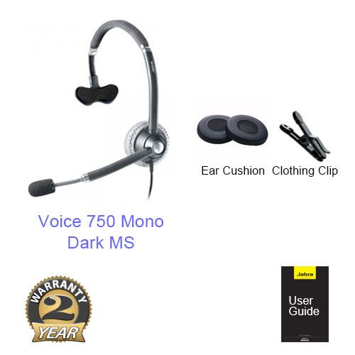 jabra voice 750 mono dark ms