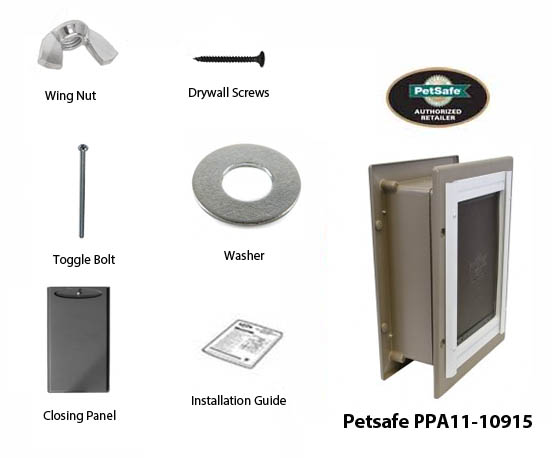 petsafe wall entry aluminum pet door
