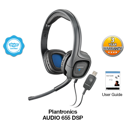 Plantronics Audio 655 USB Multimedia Headset with Noise ...