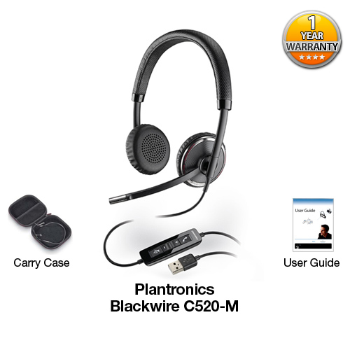 plantronics blackwirec520 m