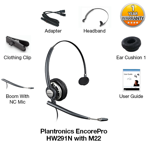 plantronics encoreprohw291n mono with m22