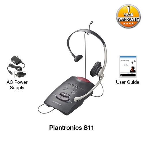 Plantronics S11 Amplifier Amp Headset Combo Over The Head