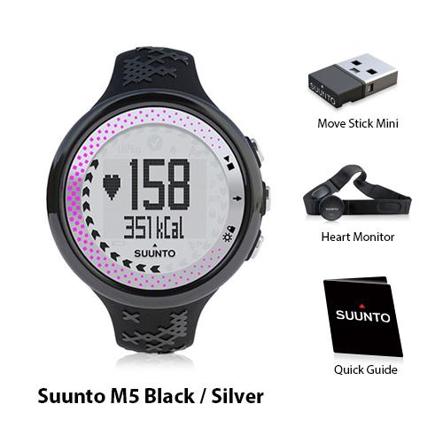 suunto m5 women black silver pink