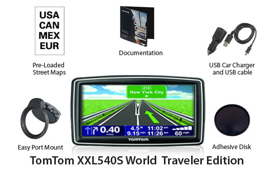 tomtom xxl540S world traveler edition