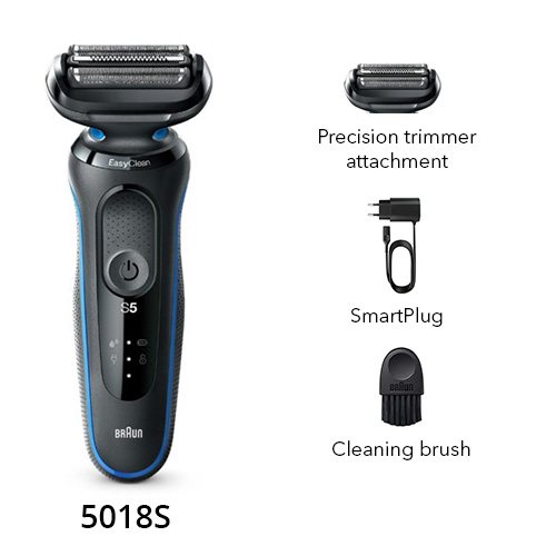 braun 5018s wet and dry shaver