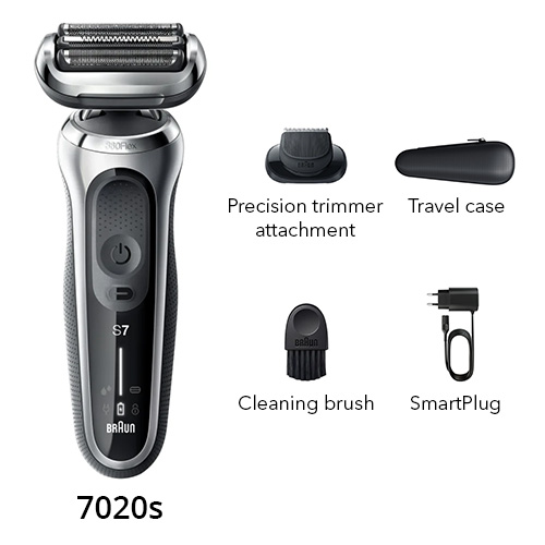braun 7020s flex head electric shaver with precision trimmer