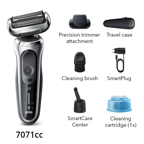 braun 7071cc electric shaver with precision trimmer