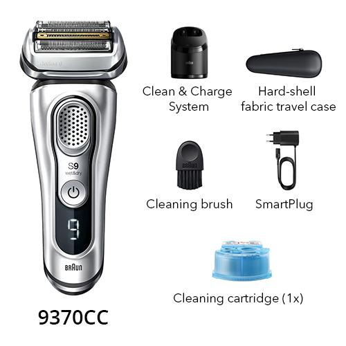 braun 9370cc wet and dry shaver
