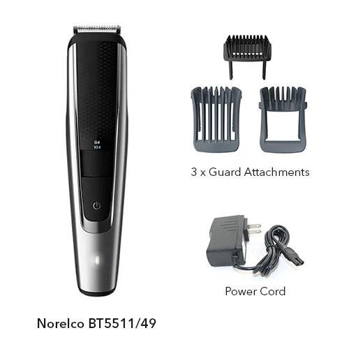 norelco beardtrimmer 5000 bt5511/49