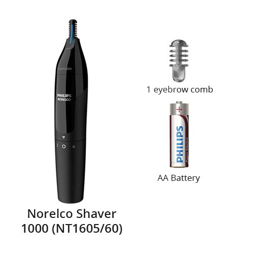 norelco nose trimmer 1000 nt1605 60