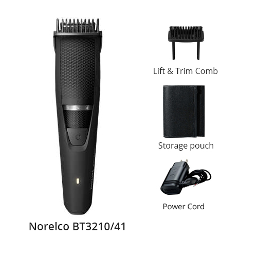 norelco beard and stubble trimmer series 3000 bt3210 41