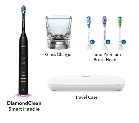 sonicare diamondclean smart sonic black hx9903/11