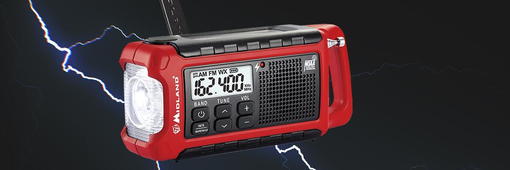 Midland ER210 E+Ready Compact Emergency Crank WX Radio